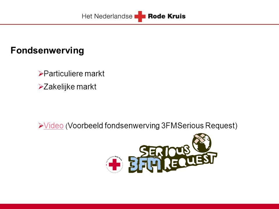 Fondsenwerving   Particuliere markt  Zakelijke markt   Video ( Voorbeeld fondsenwerving 3FMSerious Request)Video
