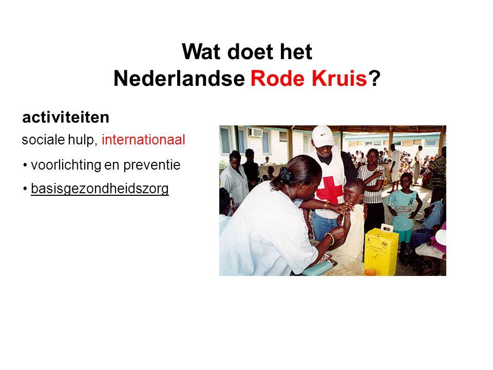 activiteiten sociale hulp, internationaal voorlichting en preventie basisgezondheidszorg