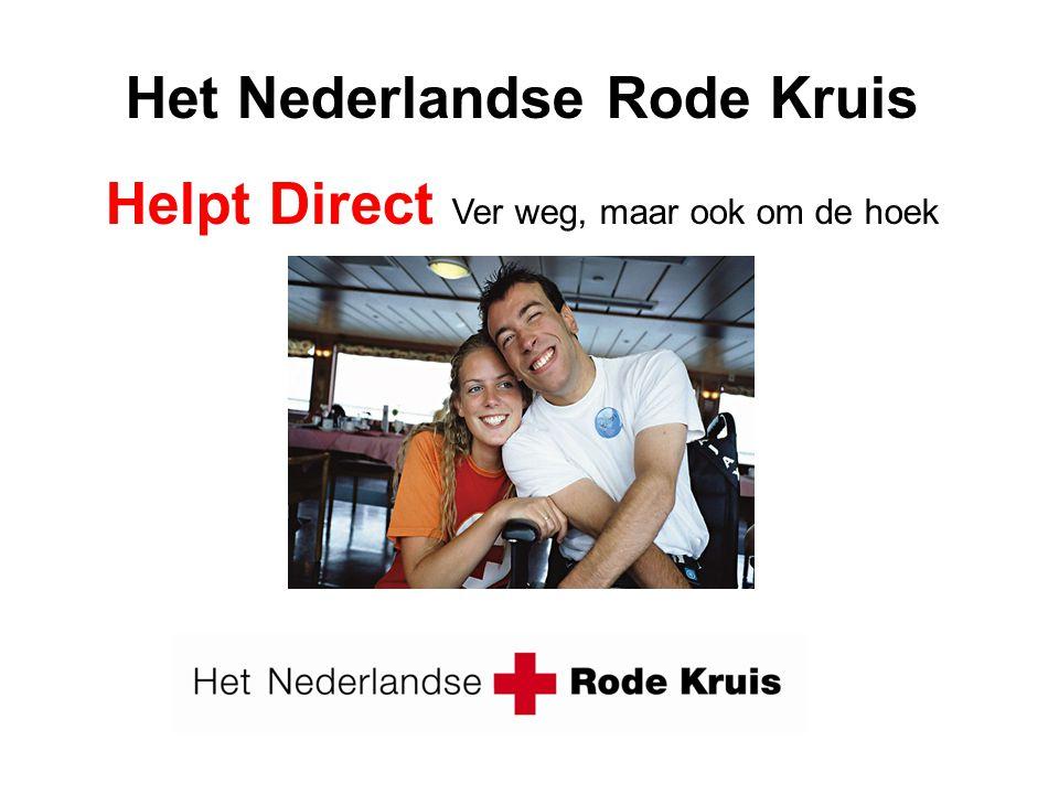 Wat doet het Nederlandse Rode Kruis? activiteiten noodhulp, nationaal geneeskundige hulp