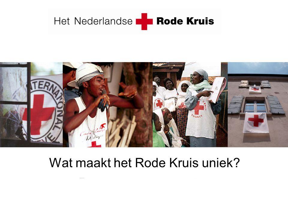 Wat maakt het Rode Kruis uniek?