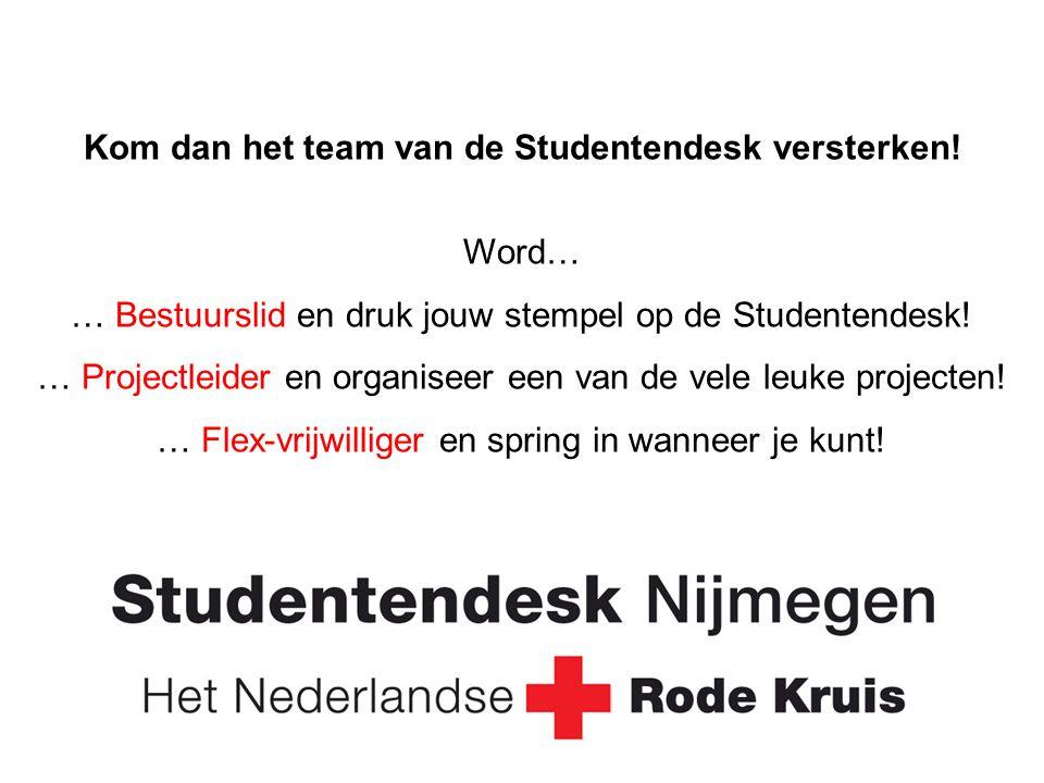 Kom dan het team van de Studentendesk versterken.