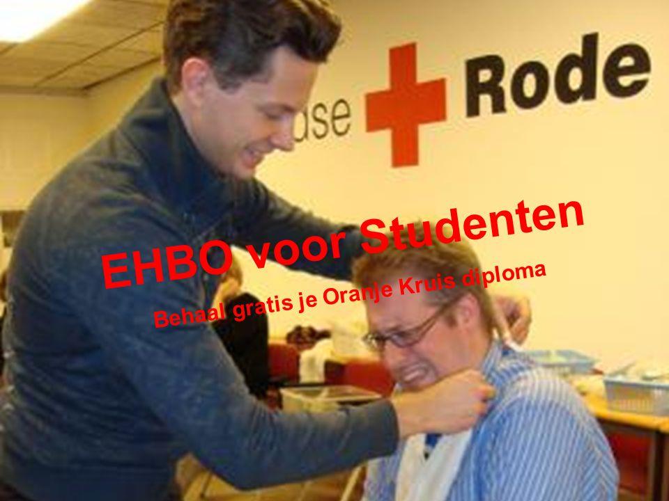 Een aantal projecten: EHBO voor Studenten Behaal gratis je Oranje Kruis diploma