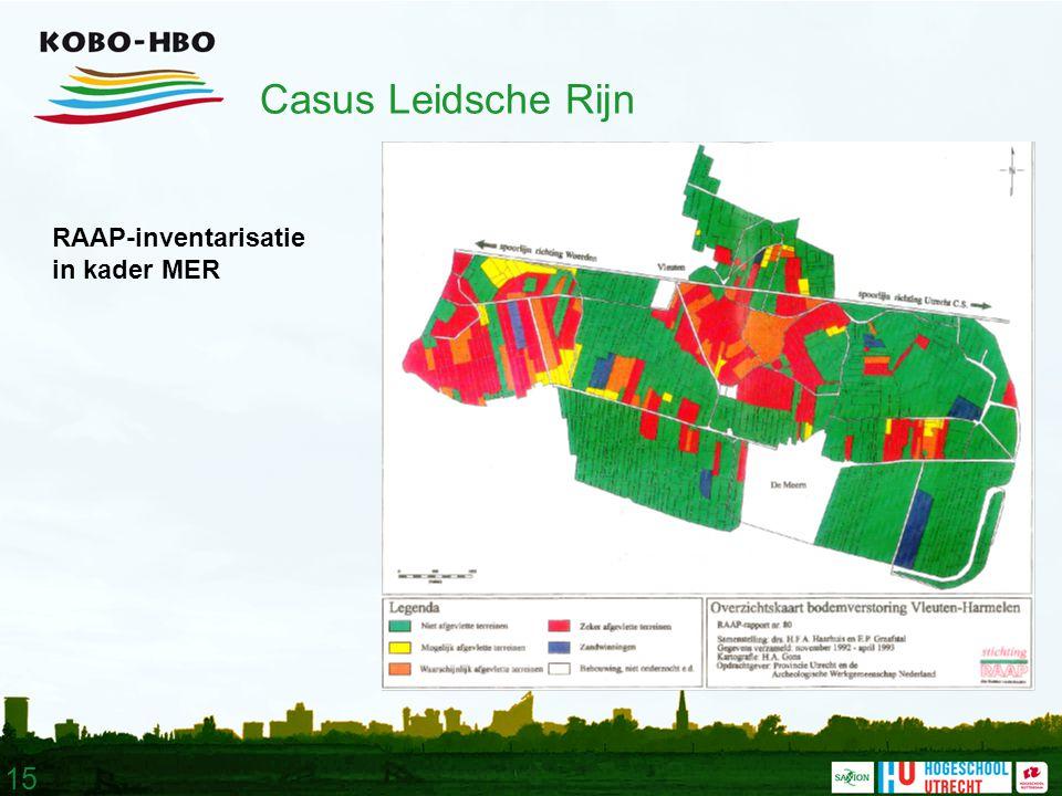 15 Casus Leidsche Rijn RAAP-inventarisatie in kader MER