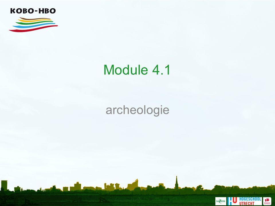 Module 4.1 archeologie