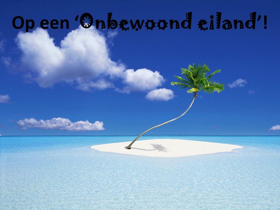 Op een ' Onbewoond eiland '!
