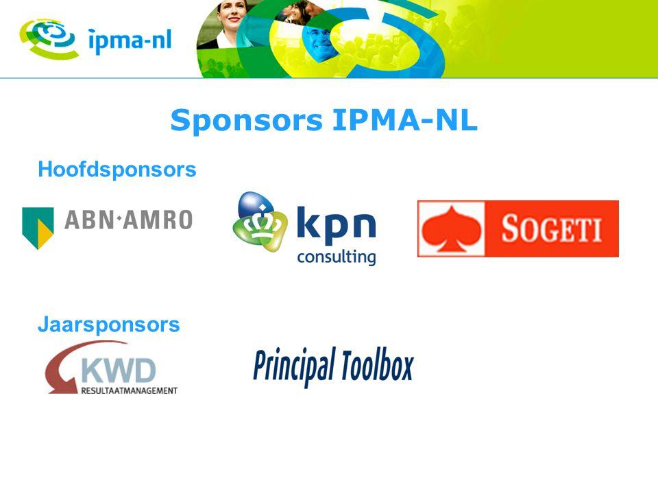 Sponsors IPMA-NL Hoofdsponsors Jaarsponsors