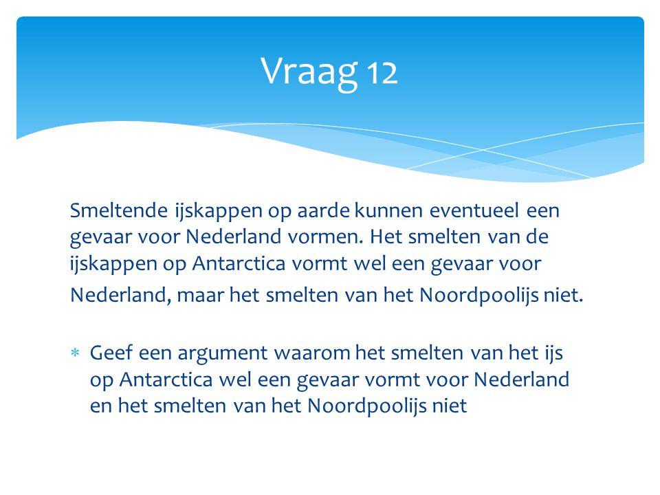 Smeltende ijskappen op aarde kunnen eventueel een gevaar voor Nederland vormen.