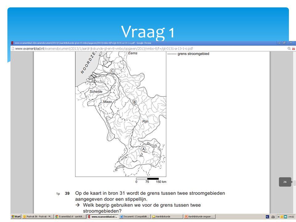 1. Grens tussen twee stroomgebieden: Waterscheiding Antwoord