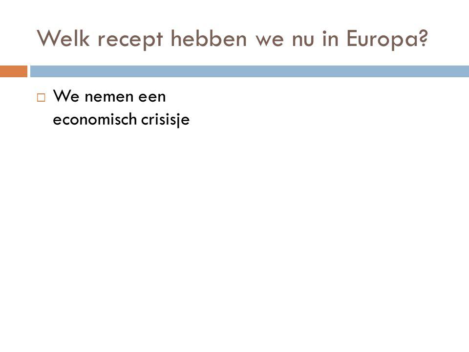 Welk recept hebben we nu in Europa?  We nemen een economisch crisisje