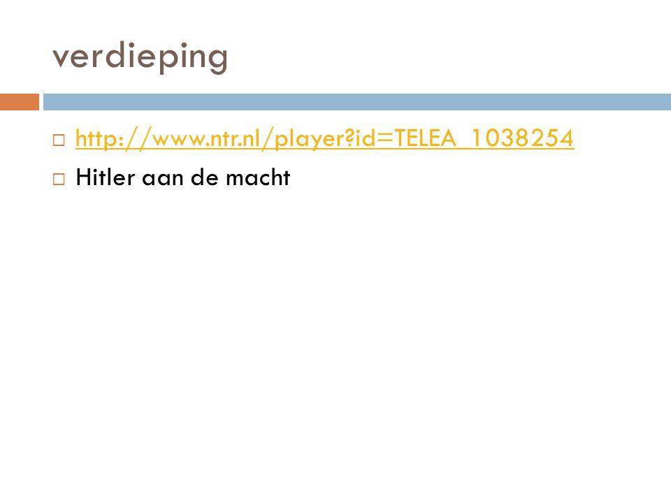 verdieping  http://www.ntr.nl/player?id=TELEA_1038254 http://www.ntr.nl/player?id=TELEA_1038254  Hitler aan de macht