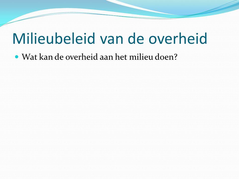 VROM = veranderd sinds 2010 De zorg voor het milieu ligt vastgelegd in de Nederlandse grondwet, artikel 21.