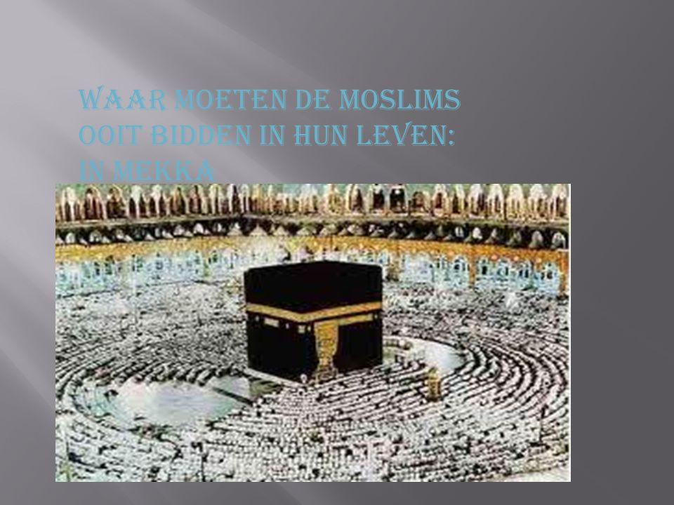 Waar moeten de moslims Ooit bidden in hun leven: In mekka