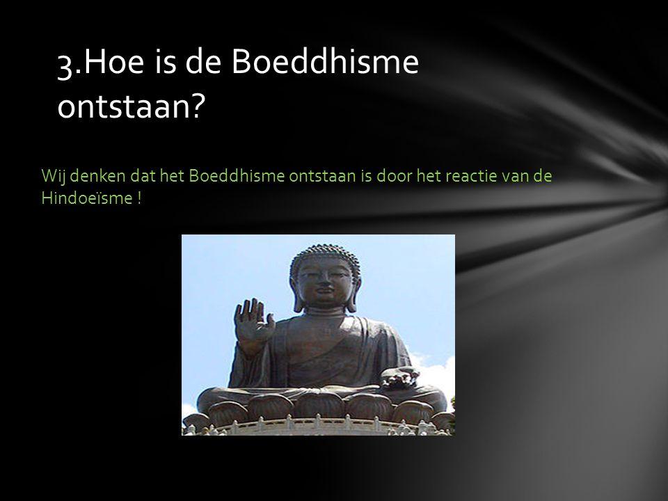 3.Hoe is de Boeddhisme ontstaan? Wij denken dat het Boeddhisme ontstaan is door het reactie van de Hindoeïsme !