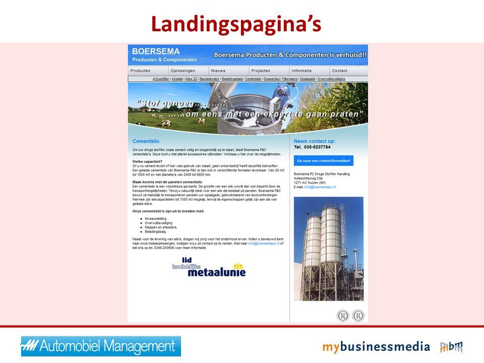 Landingspagina's