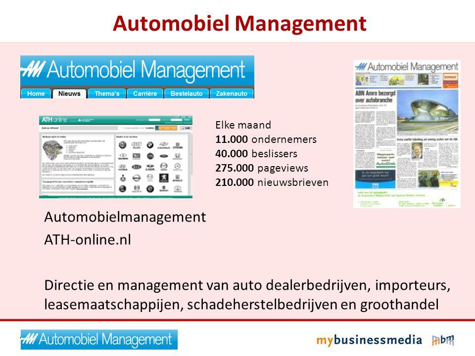 Automobiel Management Automobielmanagement ATH-online.nl Directie en management van auto dealerbedrijven, importeurs, leasemaatschappijen, schadeherst