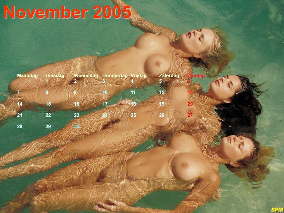 Oktober 2005 MaandagDinsdagWoensdagDonderdagVrijdagZaterdagZondag 12 3456789 10111213141516 17181920212223 24252627282930 31