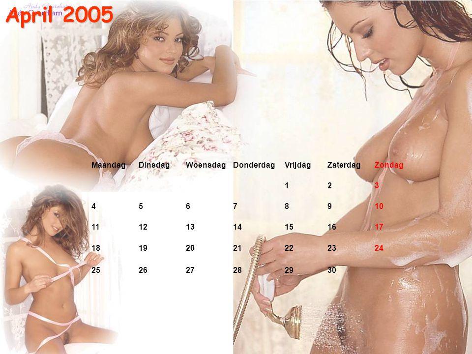 Maart 2005 MaandagDinsdagWoensdagDonderdag VrijdagZaterdagZondag 123 456 78910 111213 14151617 181920 21222324 252627 28293031