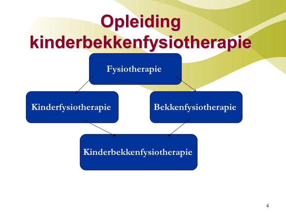 Kinderbekkenfysiotherapie Diagnostiek en behandeling van kinderen in de leeftijd van 3 tot 18 jaar met: * mictie-/ def stoornissen * enuresis * urineweginfecties * buikpijnklachten