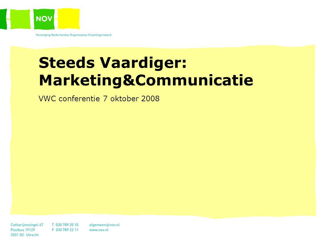 Introductie marketing Doelgroepen, projecten en positionering De praktijk Centrales en marketing