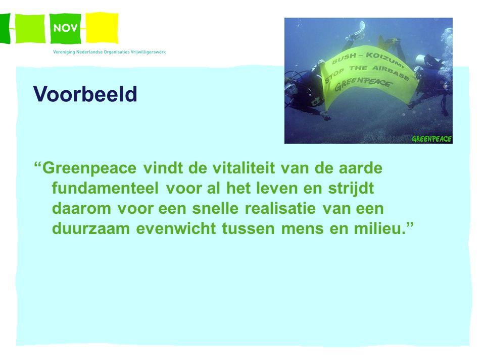 """""""Greenpeace vindt de vitaliteit van de aarde fundamenteel voor al het leven en strijdt daarom voor een snelle realisatie van een duurzaam evenwicht tu"""