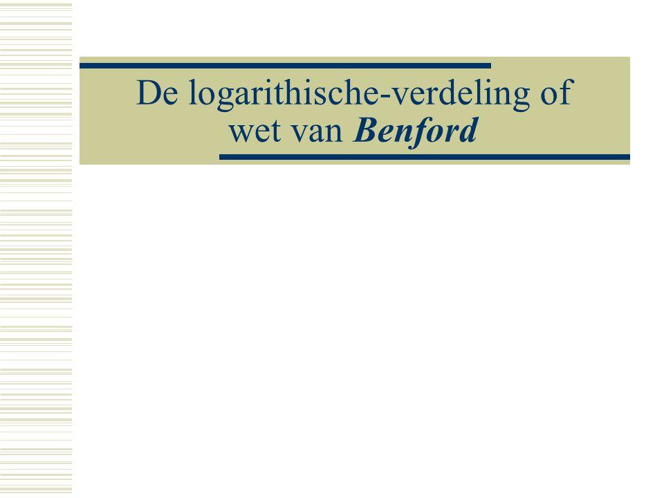 De logarithische-verdeling of wet van Benford