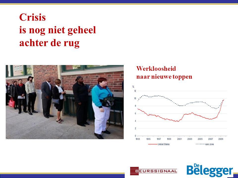Crisis is nog niet geheel achter de rug Werkloosheid naar nieuwe toppen