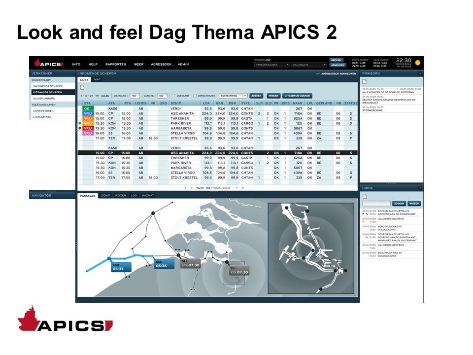 Look and feel Dag Thema APICS 2