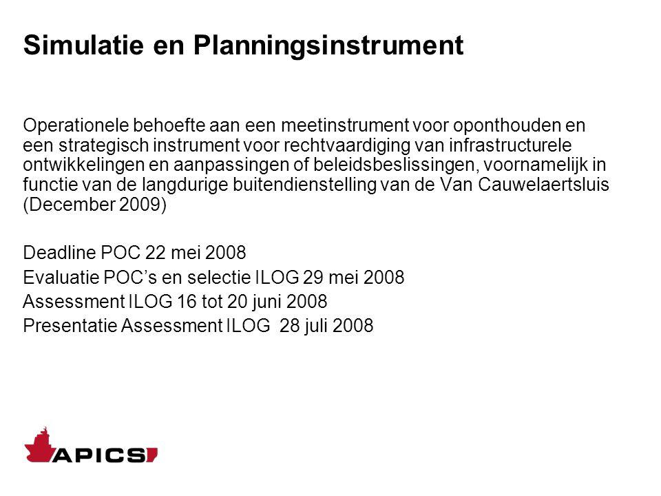 Simulatie en Planningsinstrument Operationele behoefte aan een meetinstrument voor oponthouden en een strategisch instrument voor rechtvaardiging van