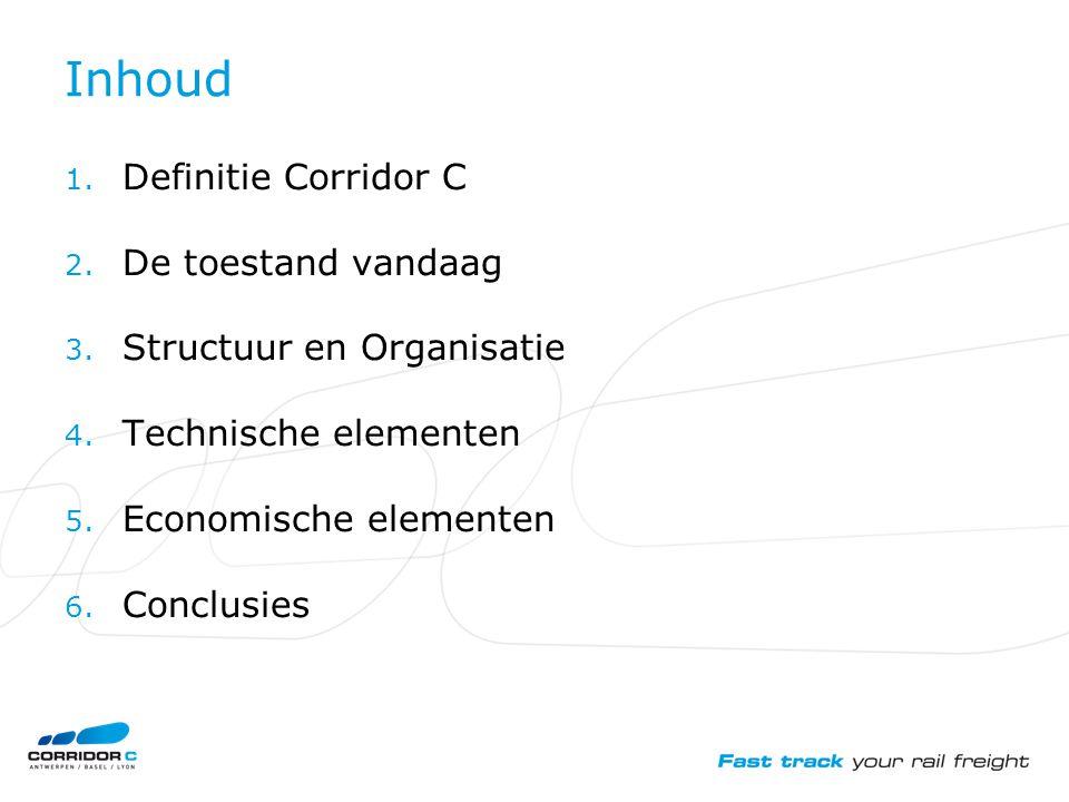 Inhoud 1. Definitie Corridor C 2. De toestand vandaag 3.