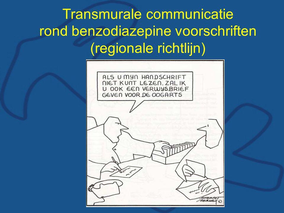 Transmurale communicatie rond benzodiazepine voorschriften (regionale richtlijn)