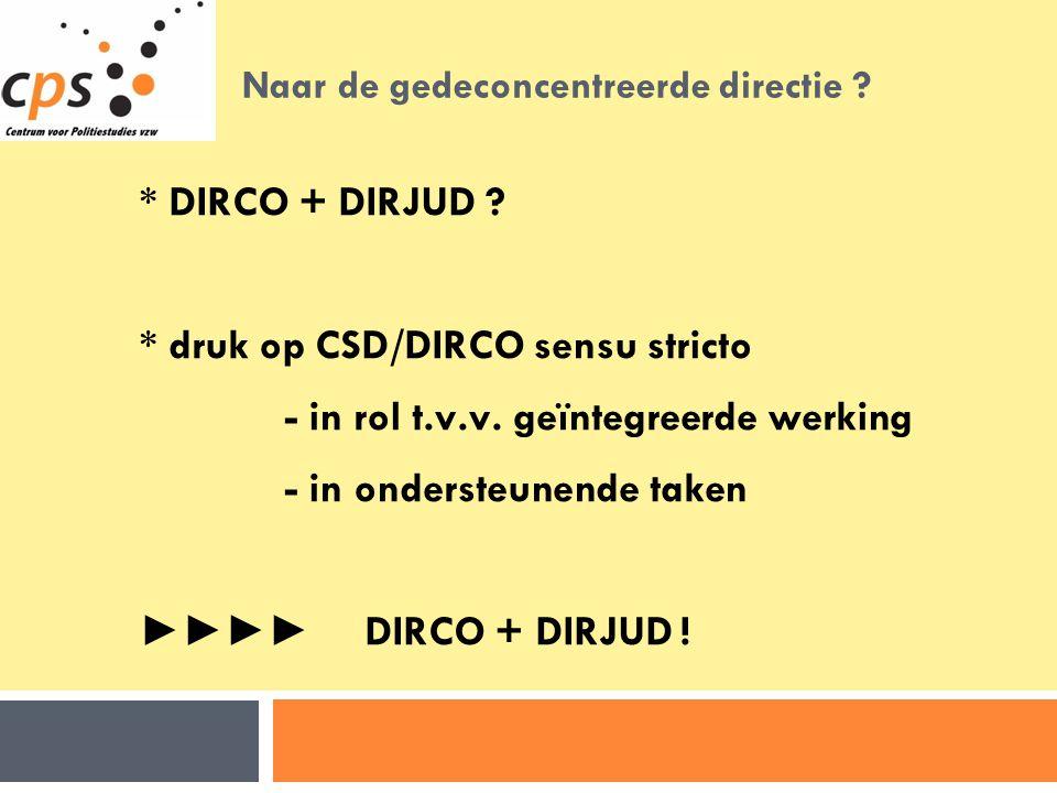 Naar de gedeconcentreerde directie .* DIRCO + DIRJUD .