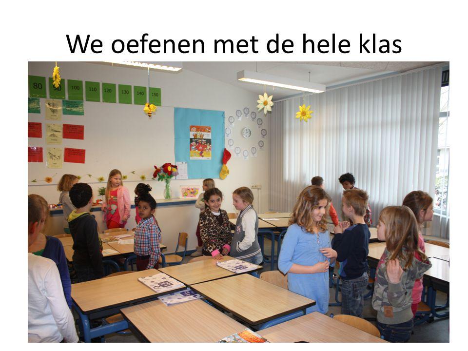 We oefenen met de hele klas