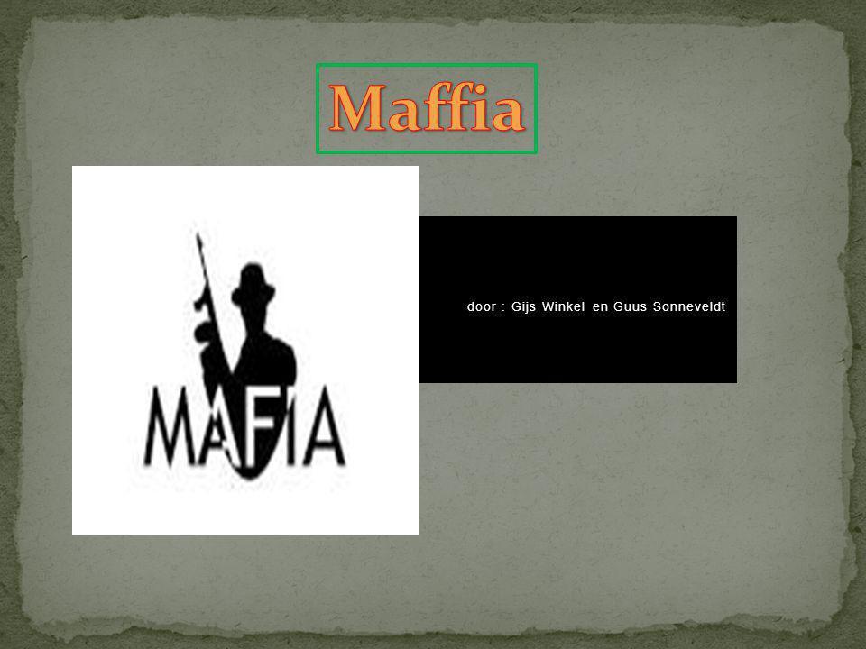 1.Wat is de maffia.2.Wat doet de maffia. 3. Soorten maffia 4.