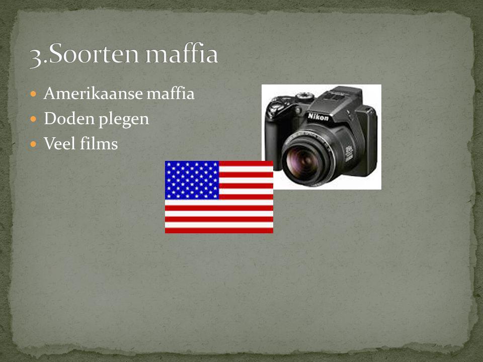Amerikaanse maffia Doden plegen Veel films