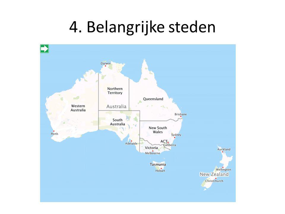 4. Belangrijke steden