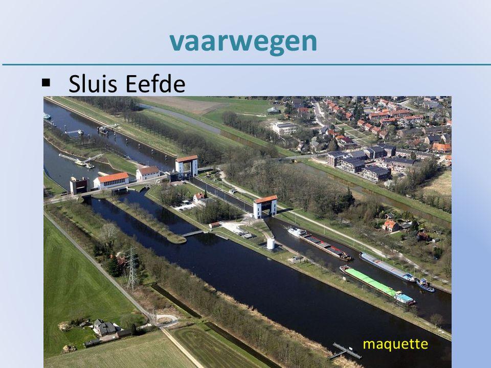 vaarwegen  Sluis Eefde maquette