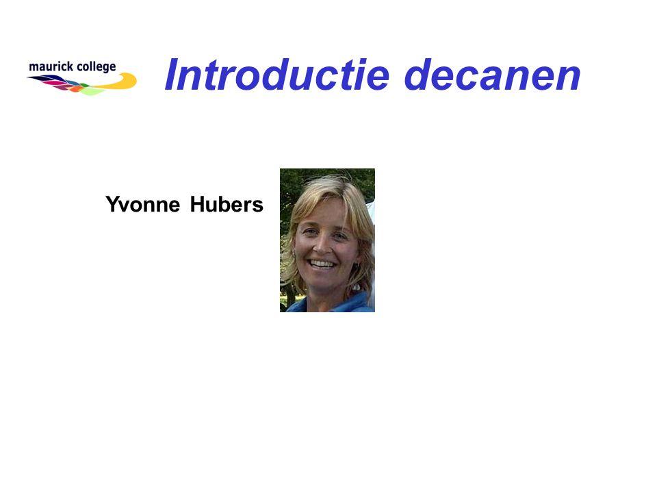 Introductie decanen Yvonne Hubers
