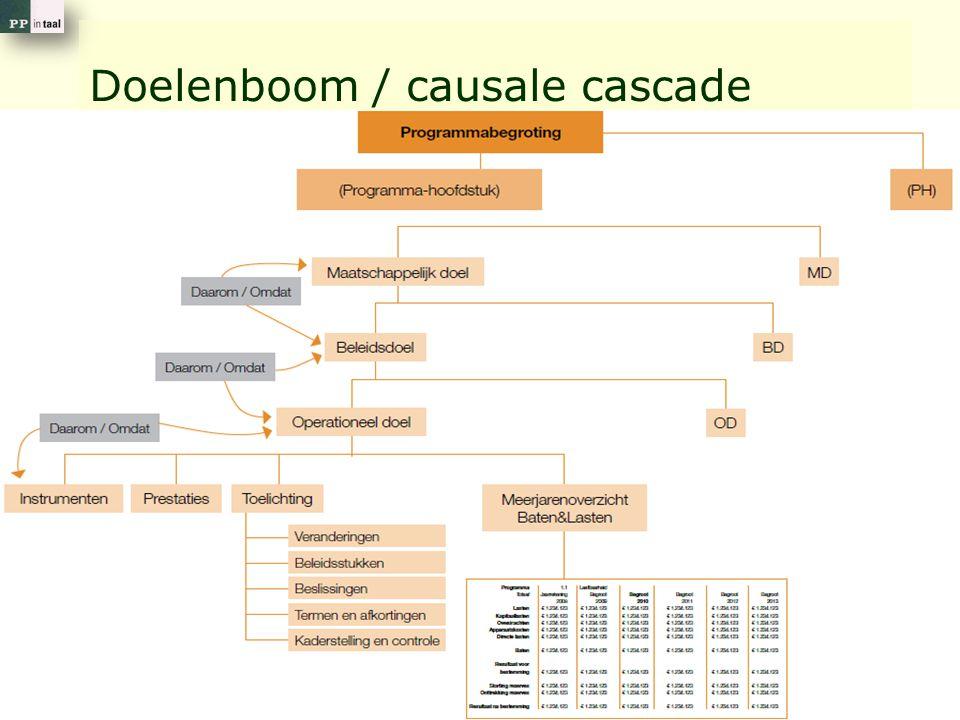 7 Doelenboom / causale cascade