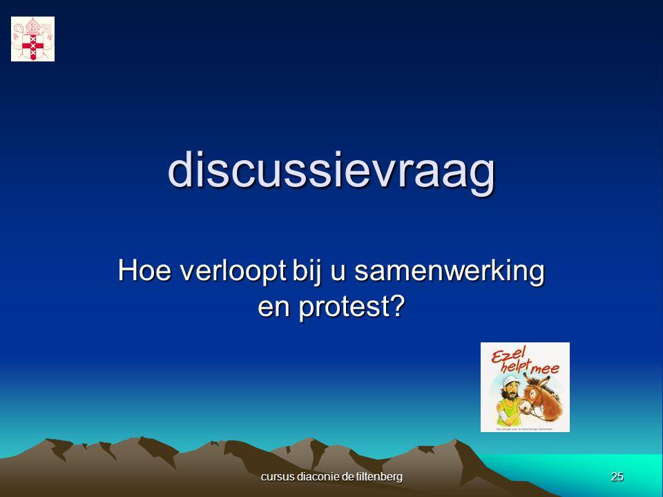 25 cursus diaconie de tiltenberg discussievraag Hoe verloopt bij u samenwerking en protest