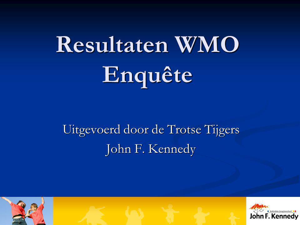 Resultaten WMO Enquête Uitgevoerd door de Trotse Tijgers John F. Kennedy