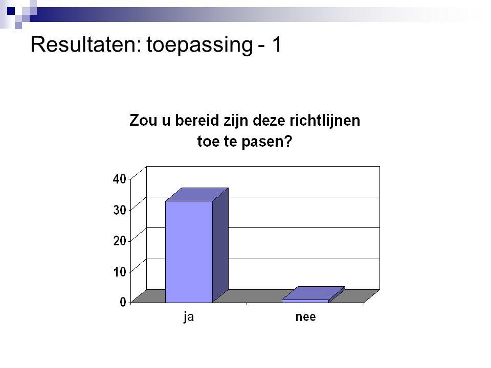Resultaten: toepassing - 1