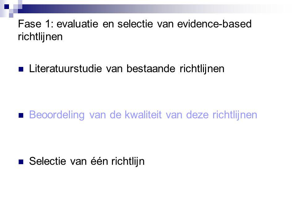 Resultaten: mogelijke knelpunten bij implementatie Gebrek aan financiële middelen Beperkingen eigen aan de werkomgeving Gebrek aan kennis over het zorgaanbod in de regio Onmogelijkheid om de richtlijnen in hun geheel daadwerkelijk in de praktijk te implementeren