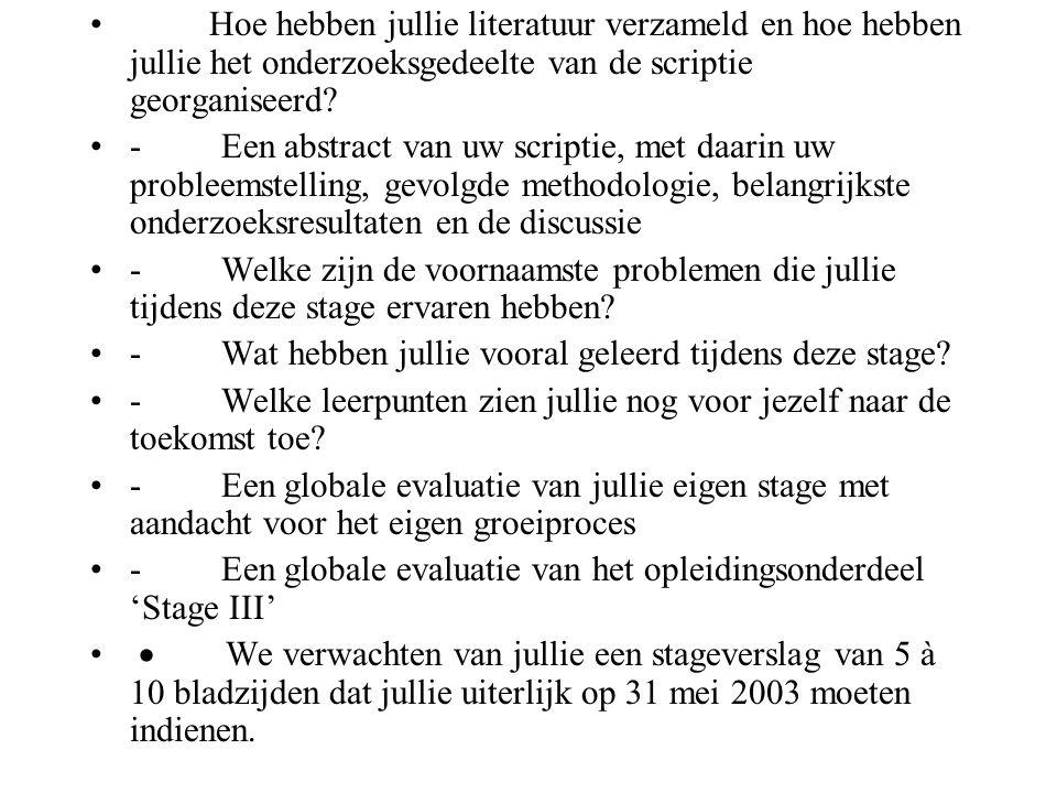 Tips bij schrijven scriptie Evenwicht tussen hoofdstukken Verzorgde presentatie Structuur.