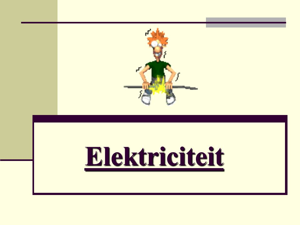 De stroomkring Er zijn 3 dingen nodig: Een spanningsbron Stroomdraden Verbruiker.