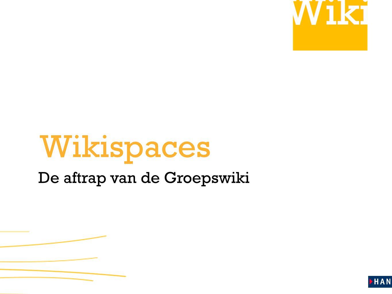 De aftrap van de Groepswiki Wikispaces