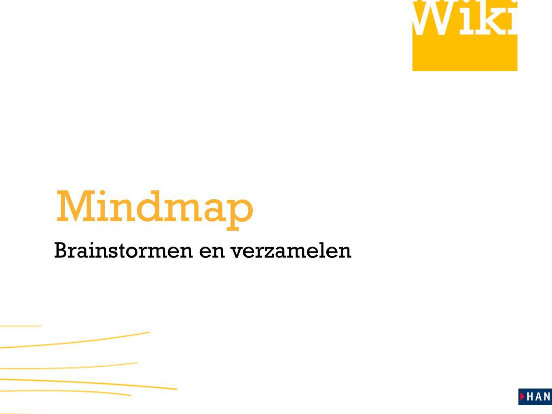 Brainstormen en verzamelen Mindmap