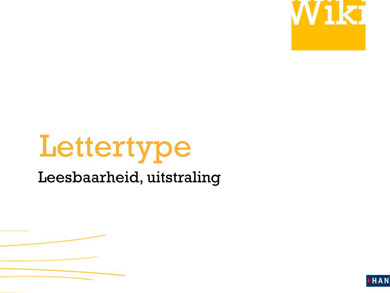 Leesbaarheid, uitstraling Lettertype