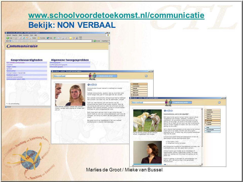 Marlies de Groot / Mieke van Bussel Leren = doen Leerobjecten op computer zijn slechts een deel van de methode.
