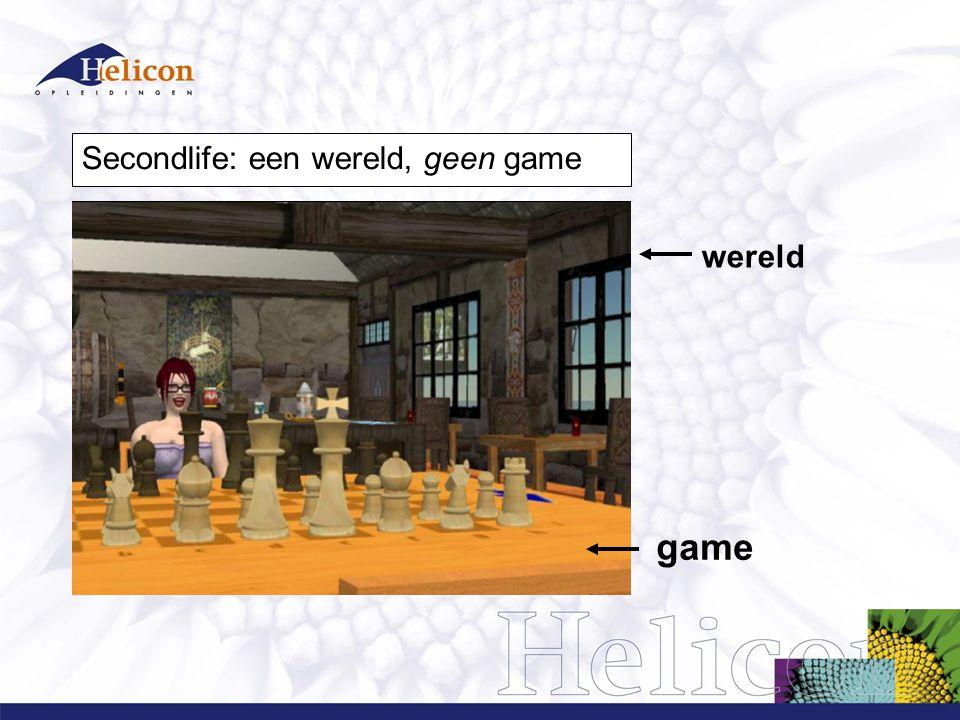 Secondlife: een wereld, geen game wereld game