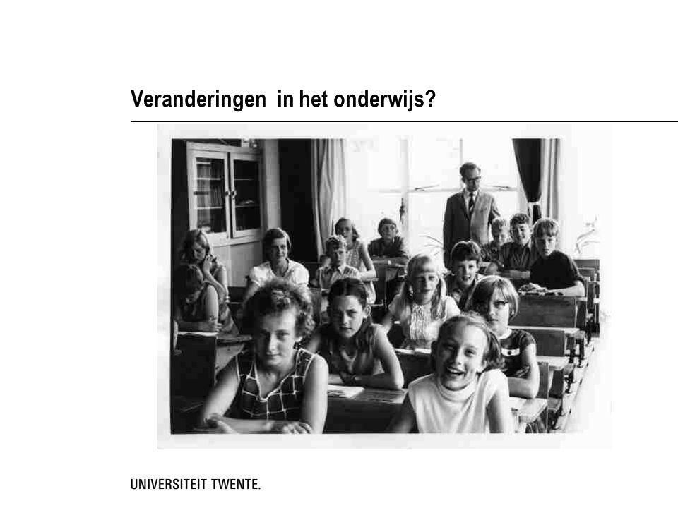 Veranderingen in het onderwijs?